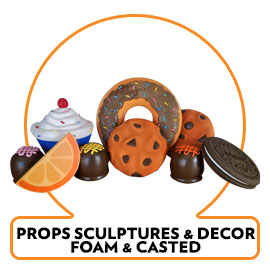 FOAM PROPS DISPLAYS FOOD SNACKS