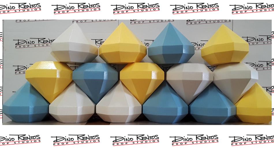 Custom Foam Diamond Props for Ellen Game Show