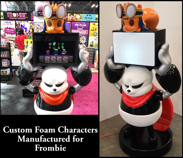 Custom Foam Frombie Prop Sculptures and Displays for Tradeshows and Conventions