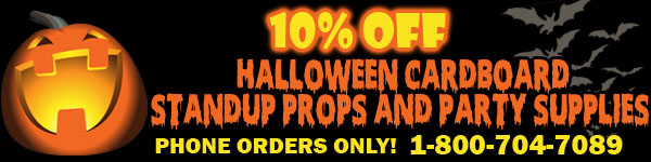 Halloween Cardboard Standup Props and Party Supplies