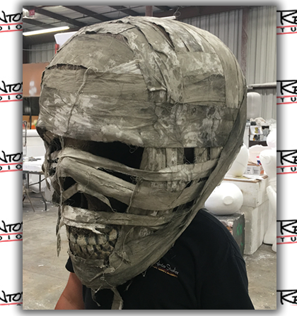 Giant Custom Foam Big Head Mummy Wearable Costume Prop
