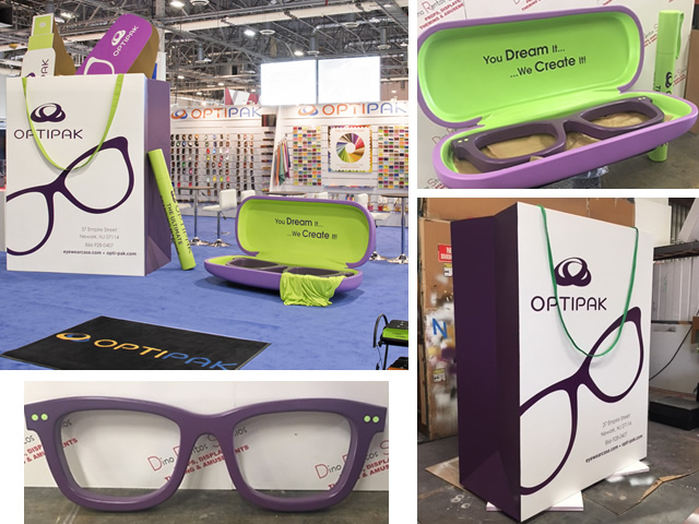 Large Foam sunglasses bag glasses case custom for tradeshow and event displays