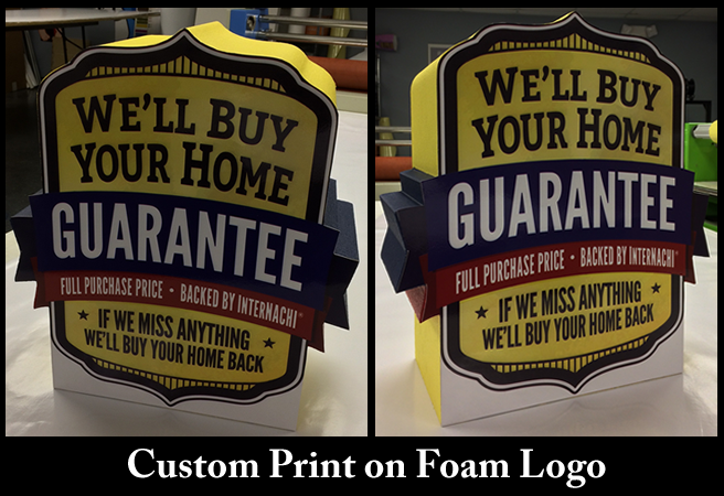 Logo Print on Foam Prop