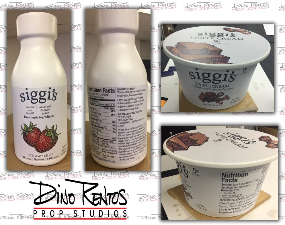 Large Custom Foam Food Yogurt Replica Prop for retail display and tradeshows