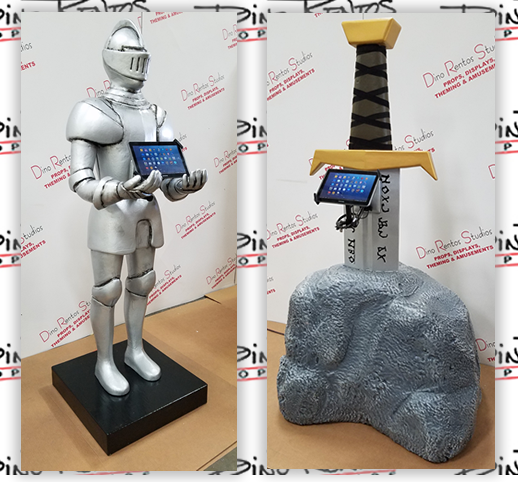 Knight Sword Custom Foam Kiosk Sculptures and Display for Tradeshows and Conventions