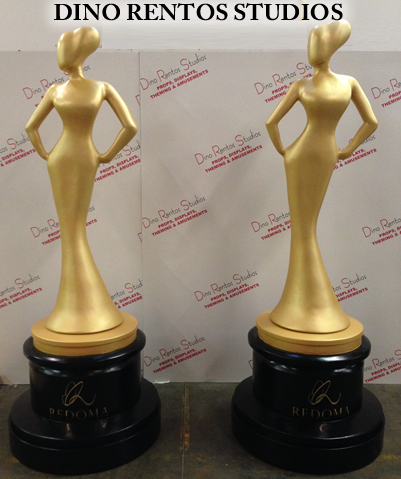 Custom Foam Award Statue Props and Scenic Sculptures and Displays for Tradeshows and Conventions