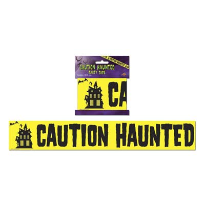 "Caution Haunted Party Tape 3"" x 20'"