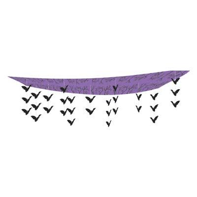 "Flock Of Bats Ceiling Décor 12"" x 12'"