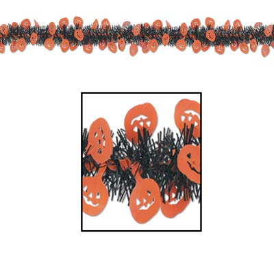 FR Metallic Pumpkin Garland 12'