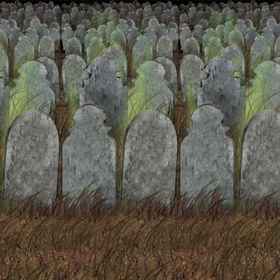 Graveyard Backdrop 4' x 30'
