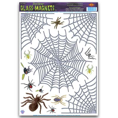 "Spider & Web Clings 12"" x 17"""