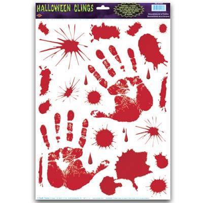 Bloody Halloween Clings