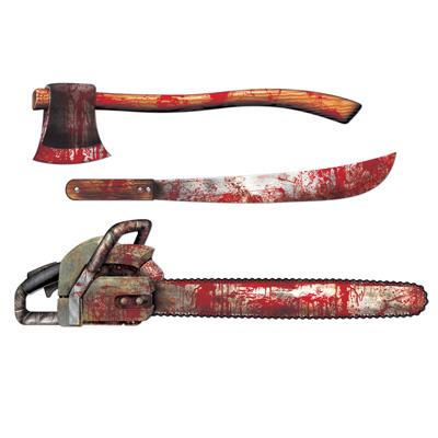 "Bloody Weapon Cutouts 25""-31"""