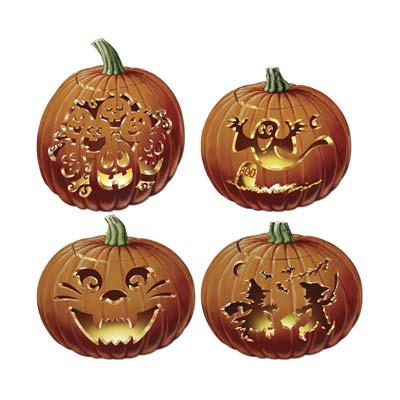 "Carved Pumpkin Cutouts 14"""