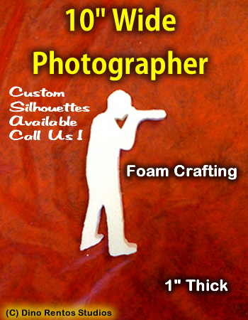 10 Inch Photographer Foam Shape Silhouette