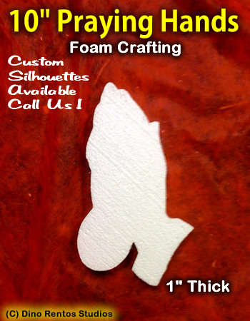 10 Inch Praying Hands Foam Shape Silhouette