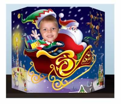 "Santa & Elf Photo Prop 3' 1"" x 25"""