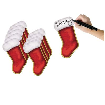 Christmas Stocking Cutouts 7½""