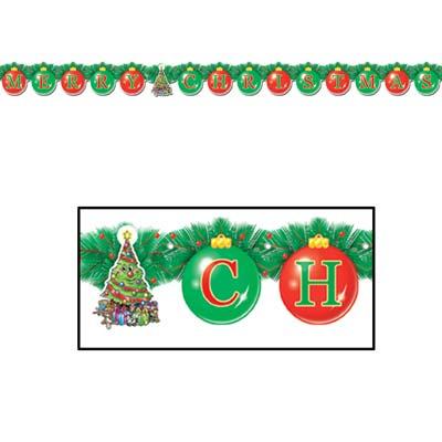 "Merry Christmas Streamer 5 1/4""x 5' 6"""