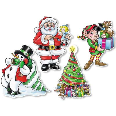 Christmas Cutouts 14""