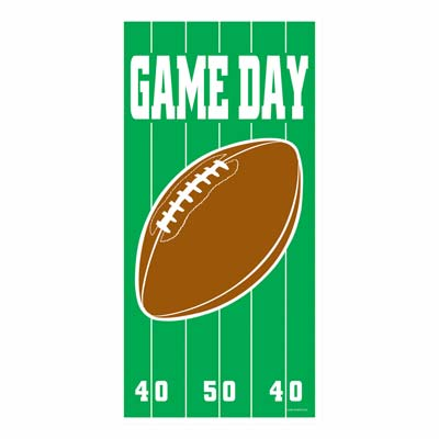 """Game Day Football Door Cover 30"""" x 5'"""