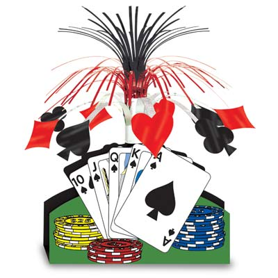 Playing Card Centerpiece 13""