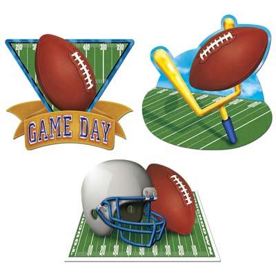 "Game Day Football Cutouts 18"""