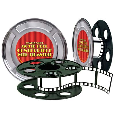 "Movie Reel With Filmstrip Centerpiece 9"""