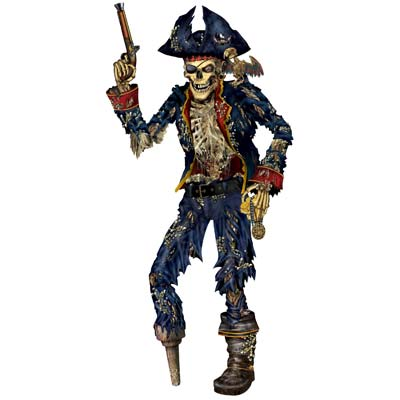 Jointed Pirate Skeleton 6'