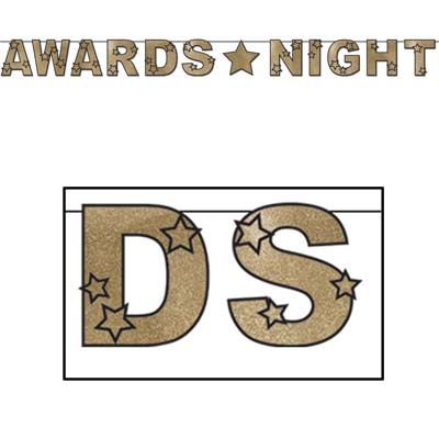 "Glittered Awards Night Streamer 8½"" x 9'"