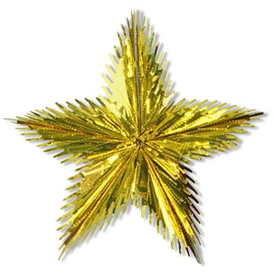 "Leaf Starburst 16"" Gold"