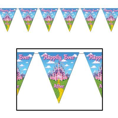 "Princess Pennant Banner 10"" x 12'"