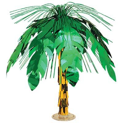 "Palm Tree Cascade Centerpiece 18"""