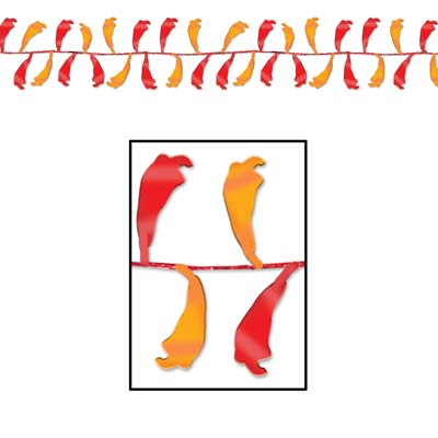 Gleam 'N Flex Chili Pepper Garland 25'