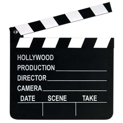 "Movie Set Clapboard Prop 7"" x 8"""