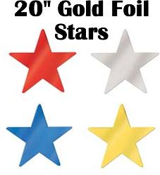 """Jumbo Foil Star 20"""""""