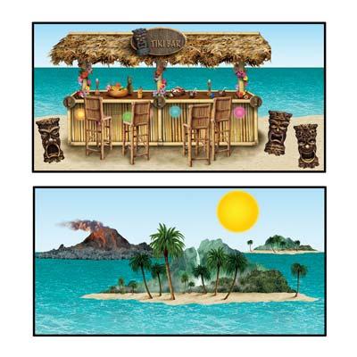 "Tiki Bar & Island Props 9""-53"""