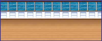 Cruise Ship Deck Backdrop 4' x 30'