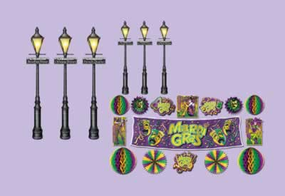 "Mardi Gras Décor & Street Light Props 8""-46"""