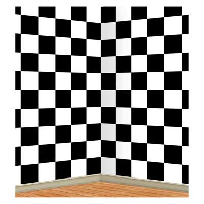 Checkered Backdrop 4' x 30'