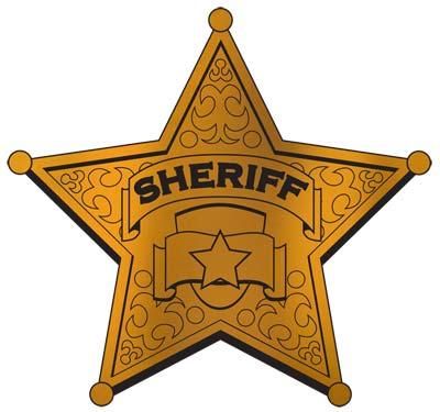 Foil Sheriff Badge Silhouette 12 Dino Rentos Studios INC