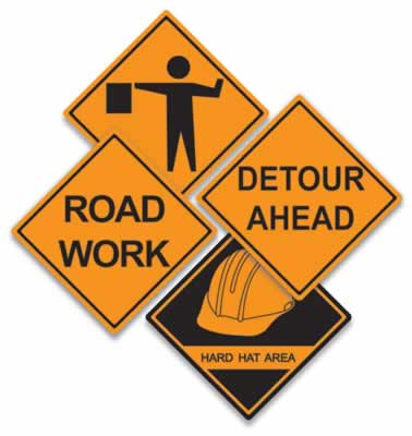 "Construction Sign Cutouts 16"""