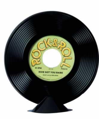 "Plastic Record Centerpiece 9"" Prop"