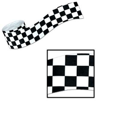 "FR Checkered Crepe Streamer 2½"" x 30'"