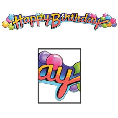 "Happy Birthday With Balloons 35"""