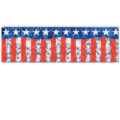 FR Metallic Stars & Stripes Fringe Banner