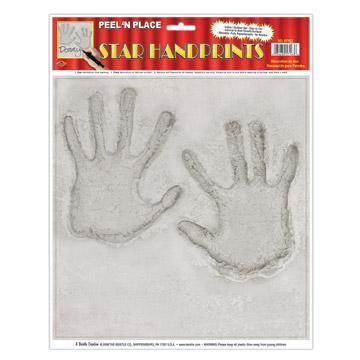 Star Handprints Peel 'N Place