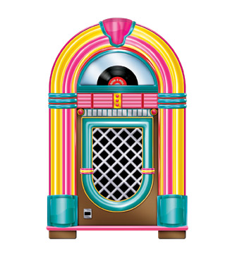 Jukebox Cutout 3' Prop