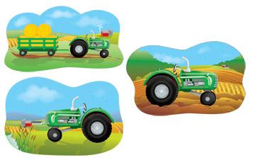 "Tractor Cutouts 18"""