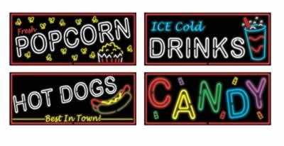 "Neon Food Sign Cutouts 21"""